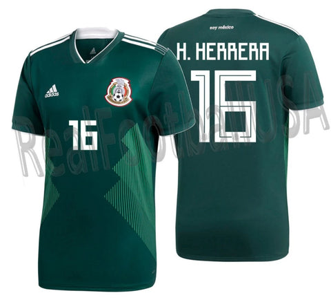 ADIDAS HECTOR HERRERA MEXICO HOME JERSEY WORLD CUP 2018 1