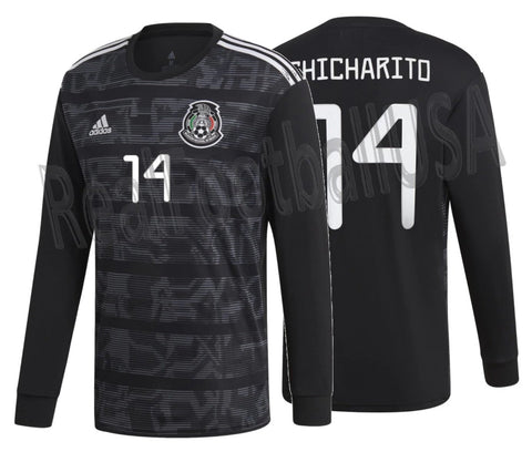 ADIDAS CHICHARITO MEXICO LONG SLEEVE HOME JERSEY 2019