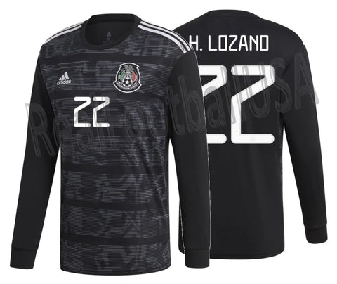 ADIDAS HIRVING LOZANO MEXICO LONG SLEEVE HOME JERSEY 2019