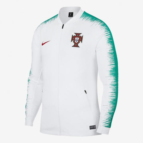 NIKE PORTUGAL ANTHEM JACKET FIFA WORLD CUP 2018 White/Kinetic Green.