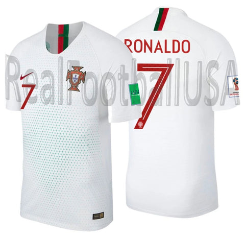 NIKE CRISTIANO RONALDO PORTUGAL VAPOR MATCH AUTHENTIC AWAY JERSEY FIFA WORLD CUP 2018 PATCHES 1