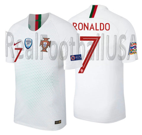 NIKE CRISTIANO RONALDO PORTUGAL VAPOR MATCH AUTHENTIC AWAY JERSEY NATIONS LEAGUE 2019 1