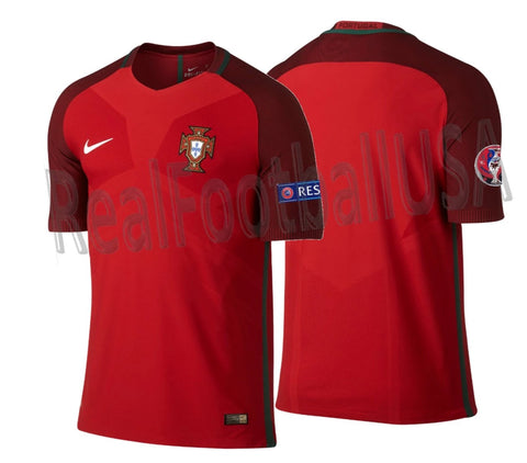 NIKE PORTUGAL VAPOR MATCH AUTHENTIC HOME JERSEY EURO 2016 0