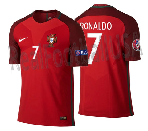 NIKE CRISTIANO RONALDO PORTUGAL VAPOR MATCH AUTHENTIC HOME JERSEY EURO 2016 0