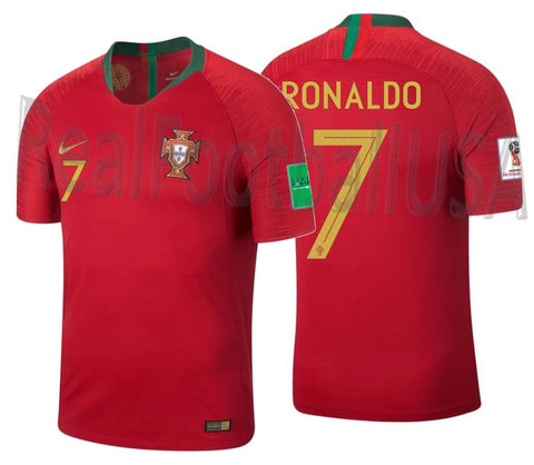 NIKE CRISTIANO RONALDO PORTUGAL VAPOR MATCH AUTHENTIC HOME JERSEY FIFA WORLD CUP 2018 PATCHES 1