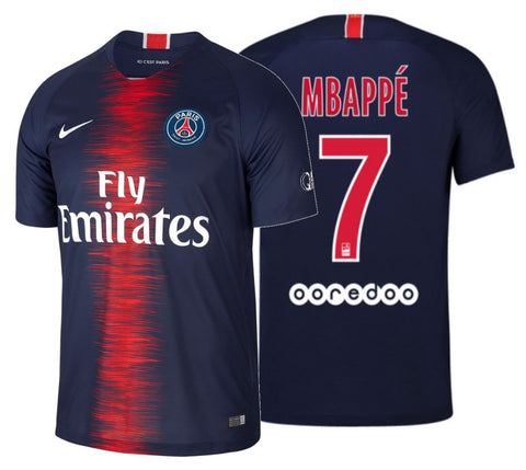 official photos ec5da f5703 NIKE KYLIAN MBAPPE PARIS SAINT-GERMAIN PSG HOME JERSEY 2018/19.