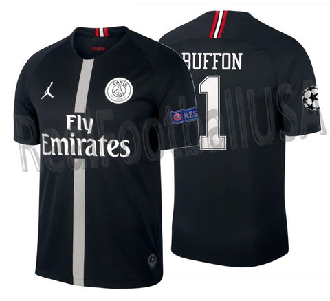 JORDAN GIANLUIGI BUFFON PSG PARIS SAINT-GERMAIN CHAMPIONS LEAGUE HOME JERSEY 2018/19.