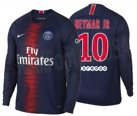 Nike Neymar PSG Long Sleeve Home Jersey 2018/19 AA8060-411
