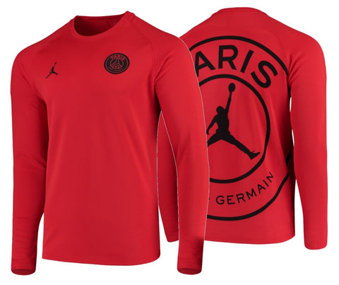 JORDAN PSG PARIS SAINT-GERMAIN UEFA CHAMPIONS LEAGUE SQUAD LONG SLEEVE PRE MATCH TOP 2019.
