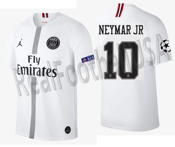 buy online b78e2 133b9 JORDAN NEYMAR JR PSG PARIS SAINT-GERMAIN UEFA CHAMPIONS LEAGUE AWAY JERSEY  2018/19.