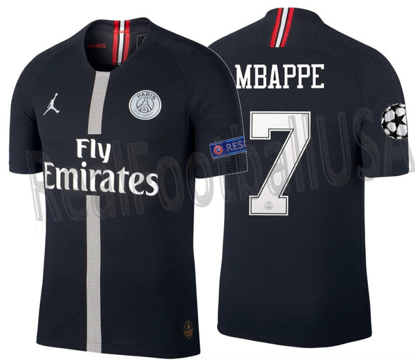 new concept 14976 8b5df JORDAN KYLIAN MBAPPE PSG PARIS SAINT-GERMAIN CHAMPIONS LEAGUE VAPOR MATCH  HOME JERSEY 2018/19.