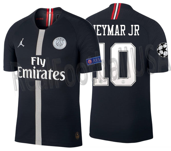 new style ca97e ecd92 JORDAN NEYMAR JR PSG PARIS SAINT-GERMAIN CHAMPIONS LEAGUE VAPOR MATCH HOME  JERSEY 2018/19.