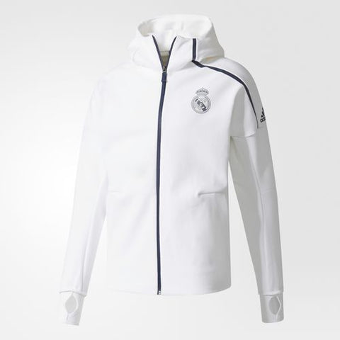 ADIDAS REAL MADRID UEFA CHAMPIONS LEAGUE ANTHEM Z.N.E. HOODIE White/Black.