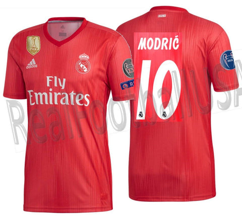 Adidas Luka Modric Real Madrid UEFA Champions League Third Jersey 2018/19 DP5445