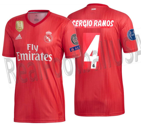 Adidas Sergio Ramos Real Madrid UEFA Champions League Third Jersey 2018 19  DP5445 5332042a0