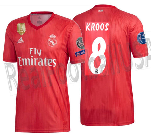 Adidas Tony Kroos Real Madrid UEFA Champions League Third Jersey 2018/19 DP5445