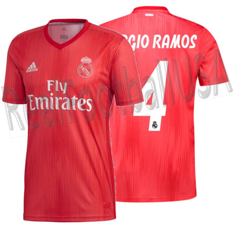 new arrival 20146 ab7a3 ADIDAS SERGIO RAMOS REAL MADRID THIRD JERSEY 2018/19.