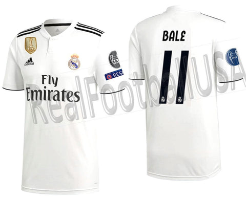premium selection 6b0de 65ece ADIDAS GARETH BALE REAL MADRID UEFA CHAMPIONS LEAGUE HOME JERSEY 2018/19.