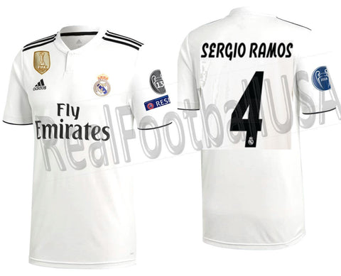 Adidas Sergio Ramos Real Madrid UEFA Champions League Home 2018/19 DH3372