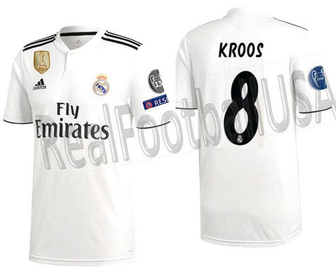 Adidas Tony Kroos Real Madrid UEFA Champions League Home 2018/19 DH3372
