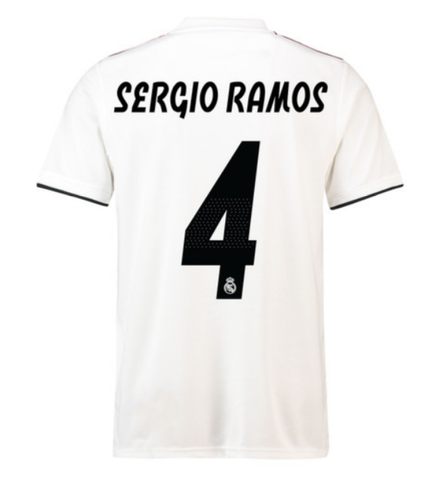 ... ADIDAS SERGIO RAMOS REAL MADRID UEFA CHAMPIONS LEAGUE HOME JERSEY 2018  19. 36bad251f