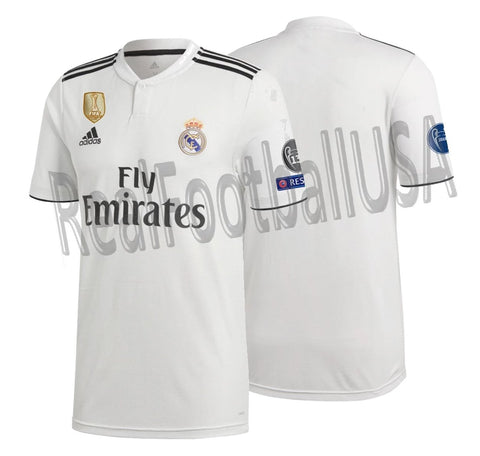 ADIDAS REAL MADRID UEFA CHAMPIONS LEAGUE HOME JERSEY 2018/19