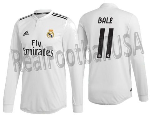 ADIDAS BALE REAL MADRID LONG SLEEVE AUTHENTIC MATCH HOME JERSEY 2018/19 DQ0869