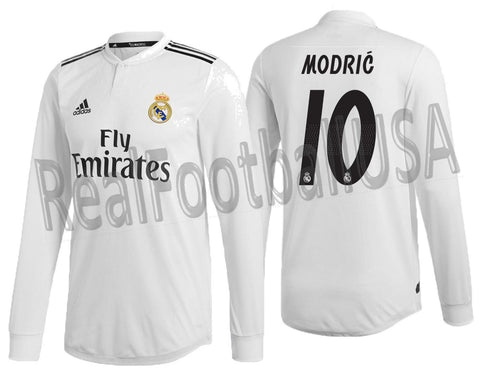 ADIDAS MODRIC REAL MADRID LONG SLEEVE AUTHENTIC MATCH HOME JERSEY 2018/19 DQ0869