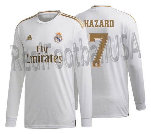 ADIDAS EDEN HAZARD REAL MADRID LONG SLEEVE HOME JERSEY 2019/20.