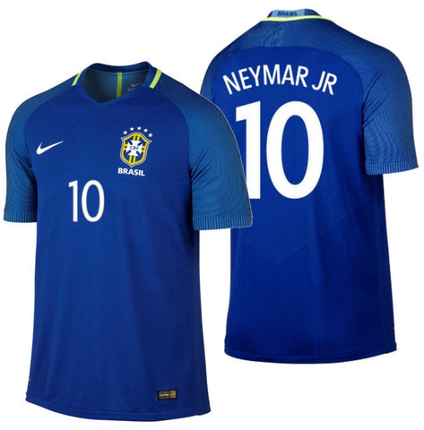 Nike Neymar Brazil Authentic Vapor Match Away Jersey 2016/17 724592-493