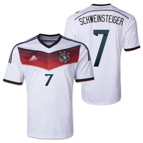 ADIDAS BASTIAN SCHWEINSTEIGER GERMANY YOUTH HOME JERSEY FIFA WORLD CUP BRAZIL 2014