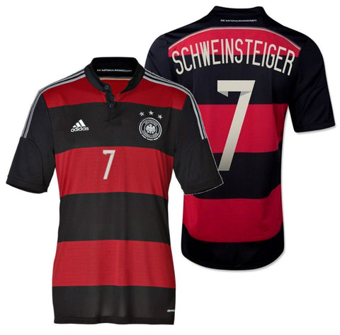 ADIDAS BASTIAN SCHWEINSTEIGER GERMANY YOUTH AWAY JERSEY FIFA WORLD CUP BRAZIL 2014