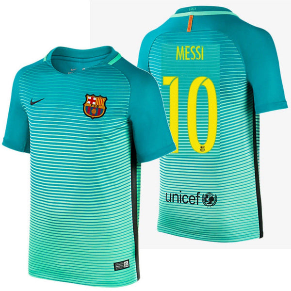 outlet store 02377 3c27c NIKE LIONEL MESSI FC BARCELONA THIRD YOUTH JERSEY 2016/17