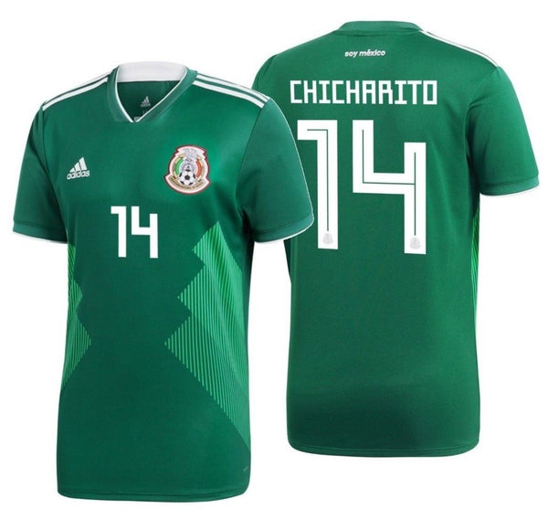 81723461cfcfe ADIDAS CHICHARITO MEXICO HOME JERSEY FIFA WORLD CUP 2018.