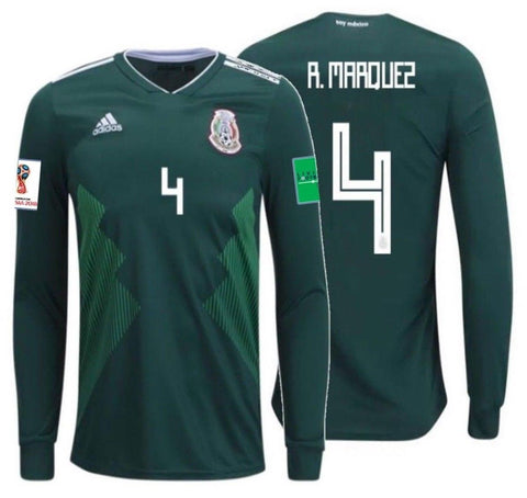 Adidas Marquez Mexico Long Sleeve Home Jersey 2018 BQ4700