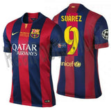 NIKE LUIS SUAREZ FC BARCELONA FINAL UEFA CHAMPIONS LEAGUE BERLIN 2015 MATCH JERSEY