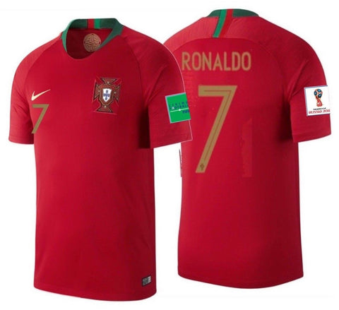 sale retailer 66d05 69193 NIKE CRISTIANO RONALDO PORTUGAL HOME JERSEY WORLD CUP 2018 PATCHES.