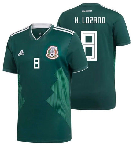 ADIDAS HIRVING LOZANO MEXICO HOME JERSEY FIFA WORLD CUP 2018.