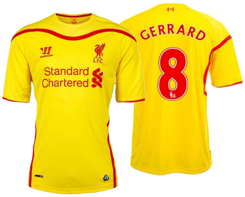 WARRIOR STEVEN GERRARD LIVERPOOL FC AWAY JERSEY 2014/15 WSTM404