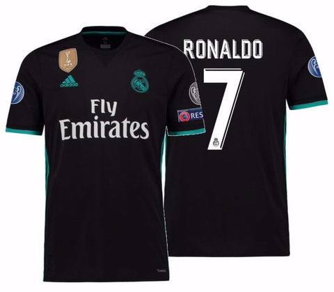 ADIDAS CRISTIANO RONALDO REAL MADRID UEFA CHAMPIONS LEAGUE AWAY YOUTH JERSEY 2017/18.