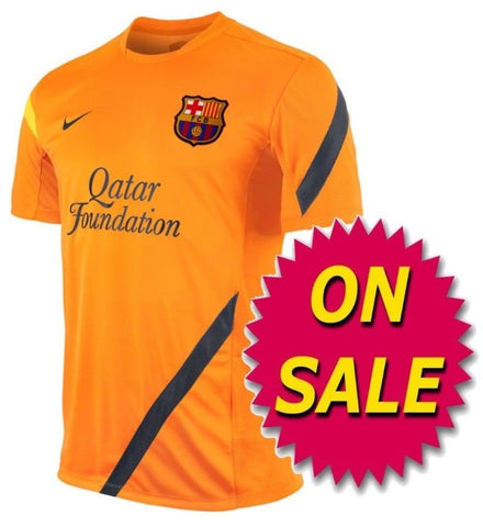 NIKE FC BARCELONA TRAINING TOP Orange 419886-802 sale