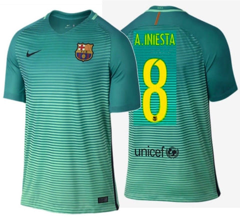 NIKE ANDRES INIESTA FC BARCELONA THIRD JERSEY 2016/17.