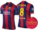 NIKE ANDRES INIESTA FC BARCELONA UEFA CHAMPIONS LEAGUE FINAL BERLIN 2015 AUTHENTIC MATCH JERSEY.