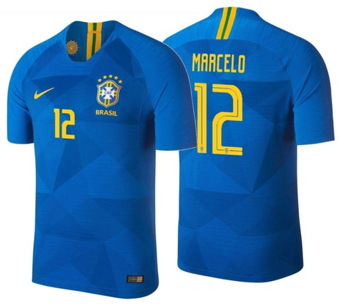NIKE MARCELO BRAZIL VAPOR MATCH AWAY JERSEY FIFA WORLD CUP 2018 1