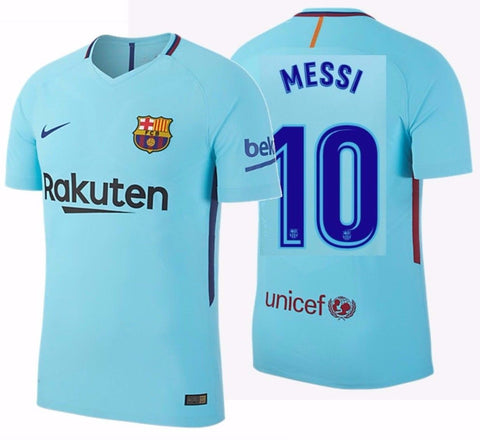 NIKE LIONEL MESSI FC BARCELONA AUTHENTIC VAPOR MATCH AWAY JERSEY 2017/18 1