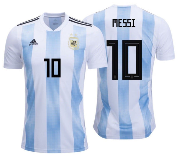 Adidas Lionel Messi Argentina Home Jersey Fifa World Cup 2018 Realfootballusa Net