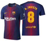 NIKE ANDRES INIESTA FC BARCELONA AUTHENTIC VAPOR MATCH HOME JERSEY 2017/18.