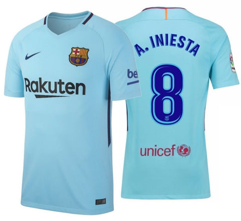 NIKE ANDRES INIESTA FC BARCELONA AWAY JERSEY 2017/18.