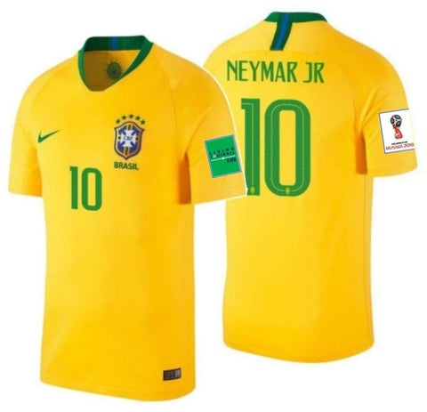 NIKE NEYMAR JR. BRAZIL HOME JERSEY WORLD CUP 2018 FIFA PATCHES ... d8dc51604