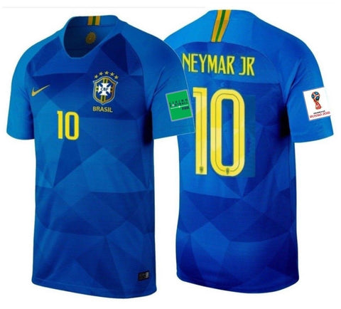 NIKE NEYMAR JR. BRAZIL AWAY JERSEY WORLD CUP 2018 FIFA PATCHES.